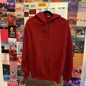 h & m maroon hoodie